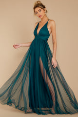 3 Matters Of The Heart Teal Maxi Dress at reddressboutique.com