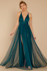 4 Matters Of The Heart Teal Maxi Dress at reddressboutique.com