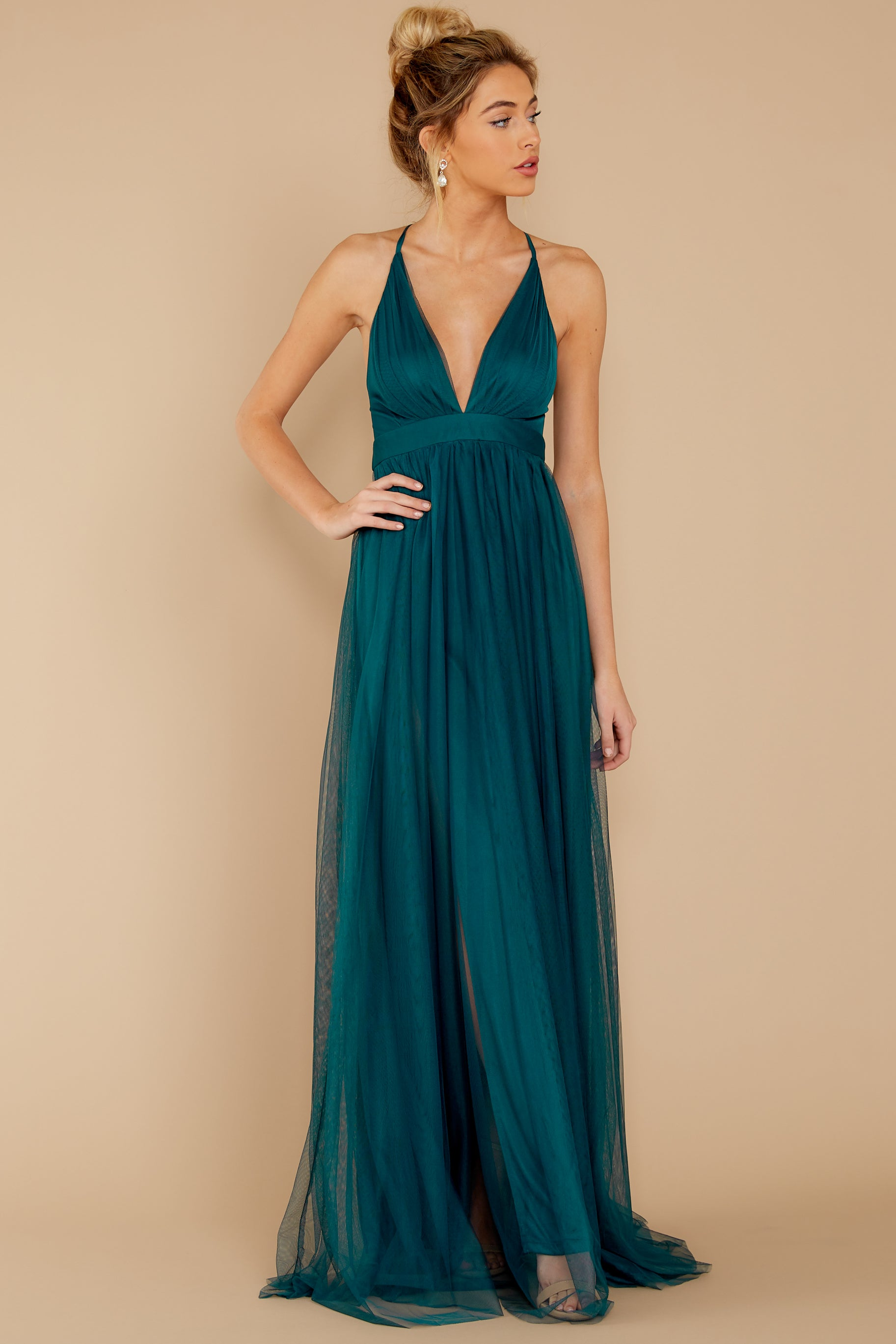 5 Matters Of The Heart Teal Maxi Dress at reddressboutique.com