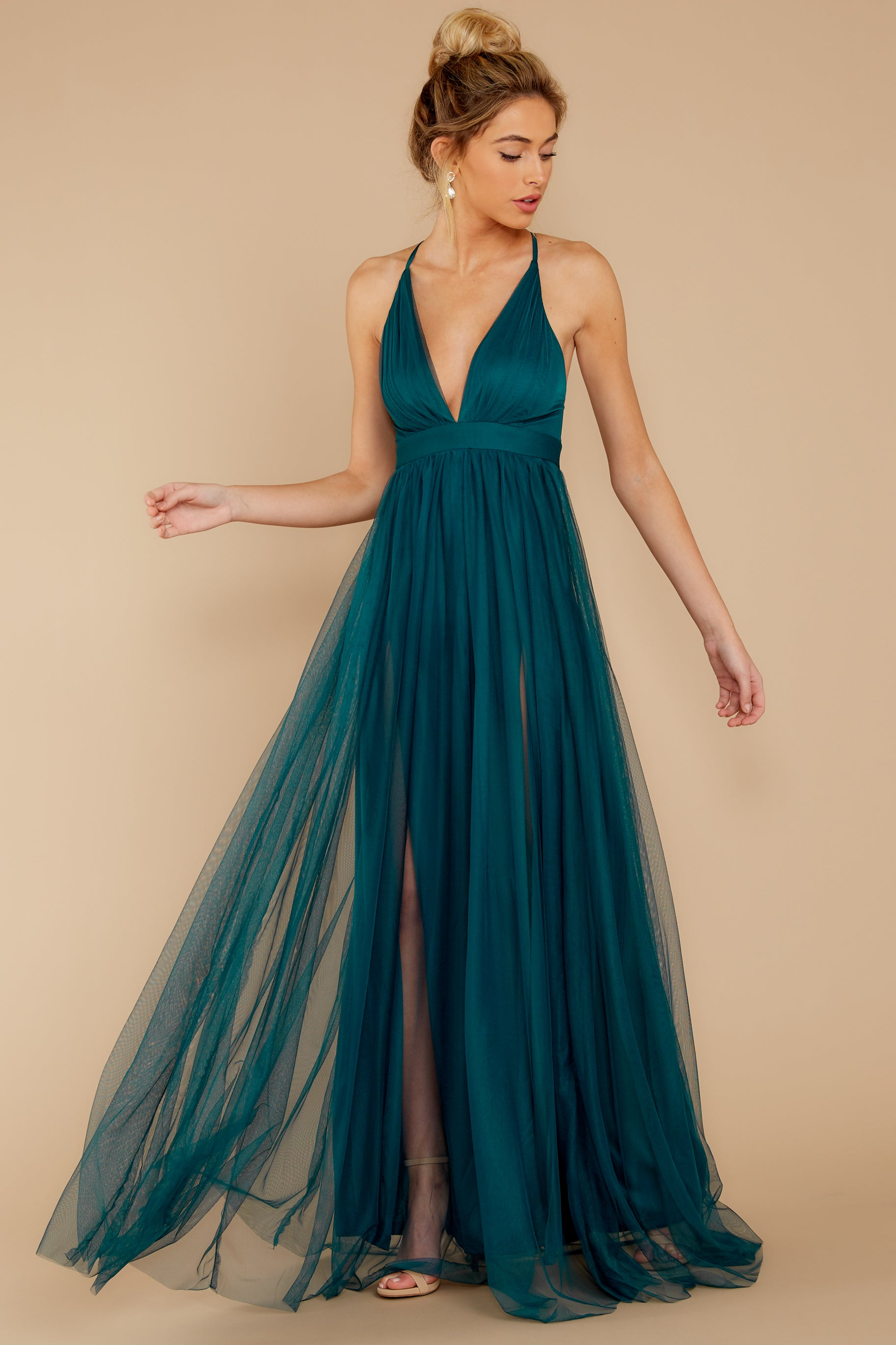 6 Matters Of The Heart Teal Maxi Dress at reddressboutique.com