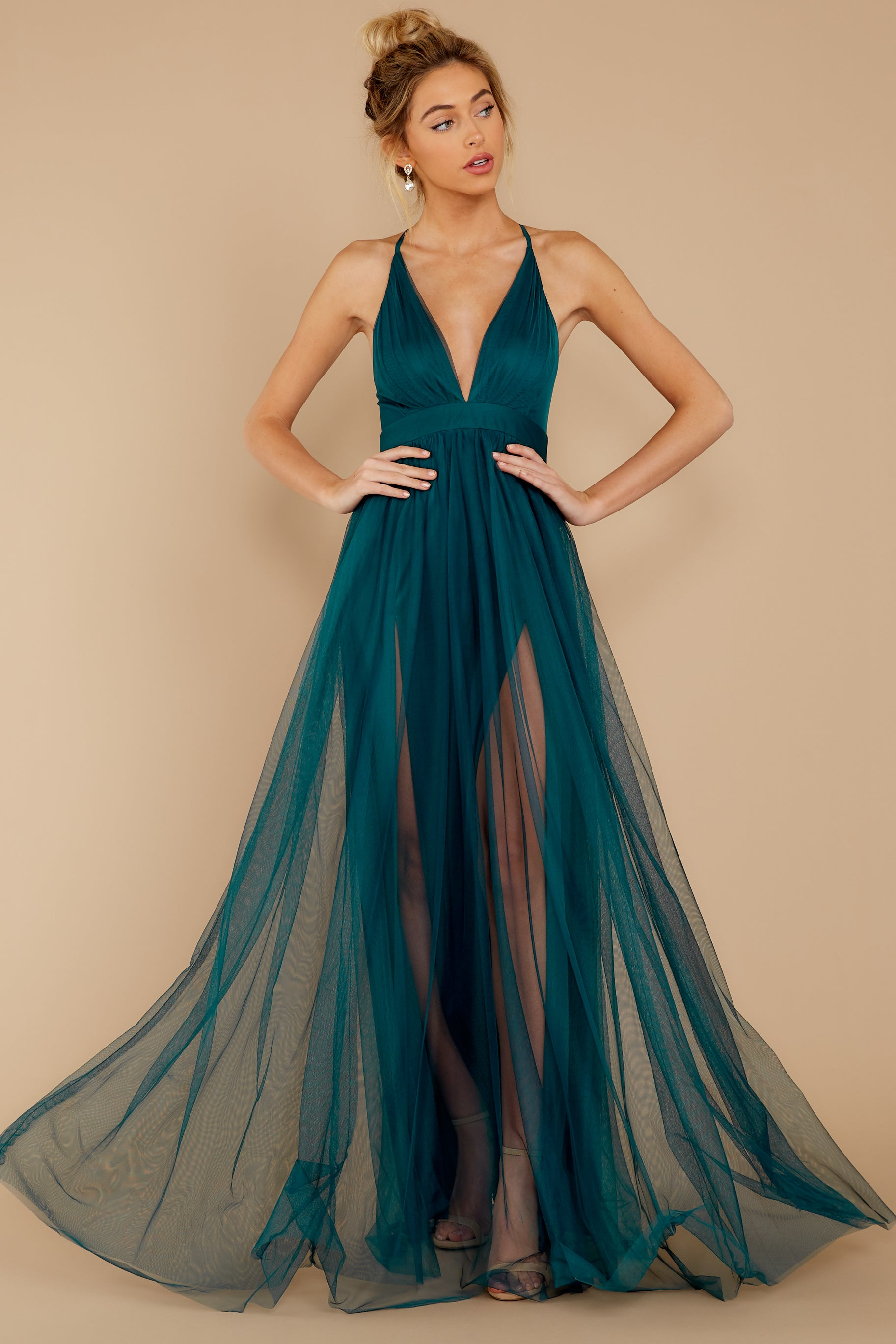 7 Matters Of The Heart Teal Maxi Dress at reddressboutique.com