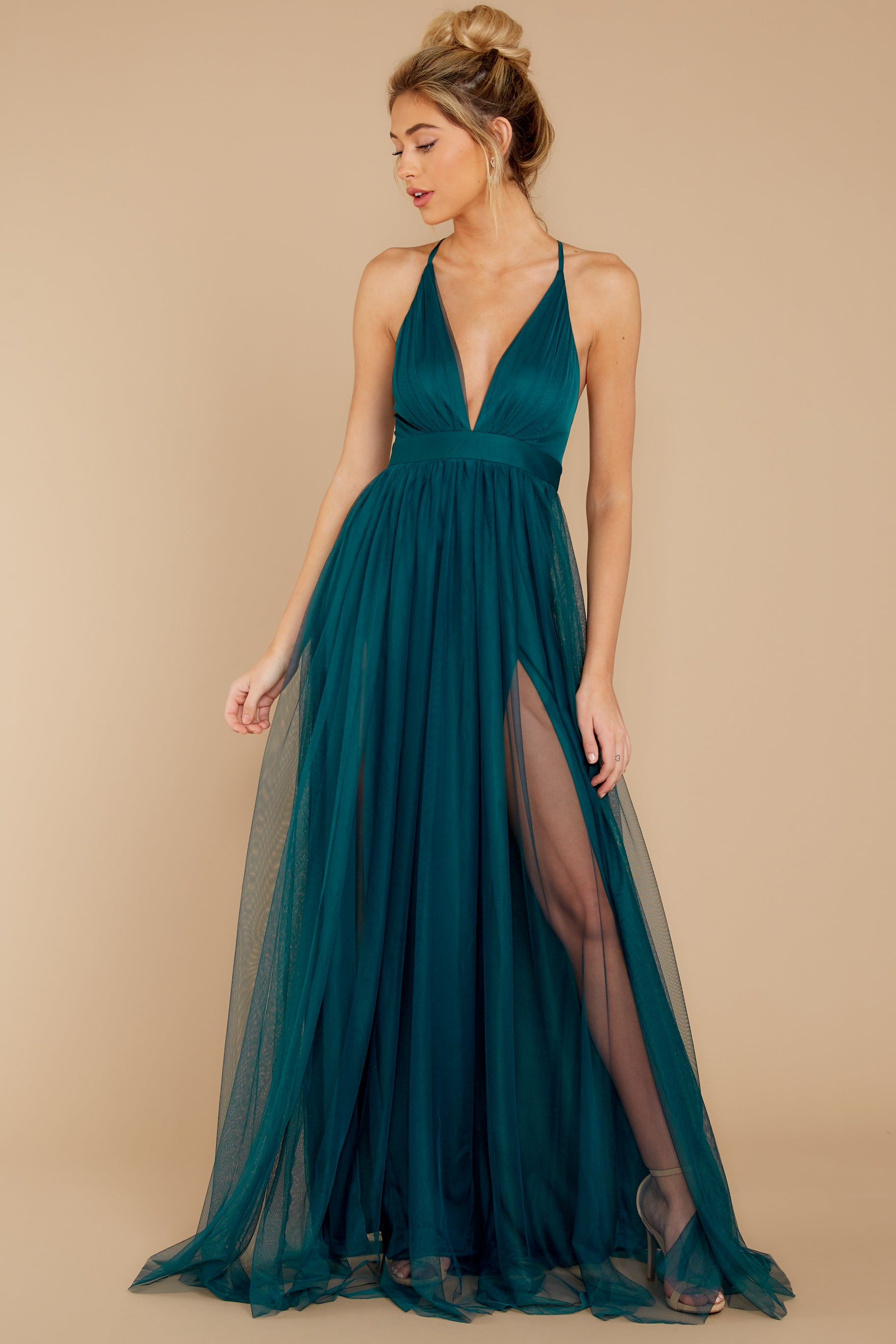 8 Matters Of The Heart Teal Maxi Dress at reddressboutique.com