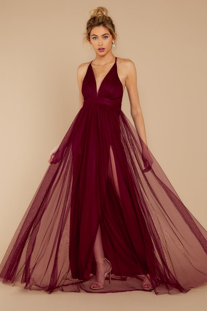 1 Gorgeous Gal Wine Red Maxi Dress at reddress.com