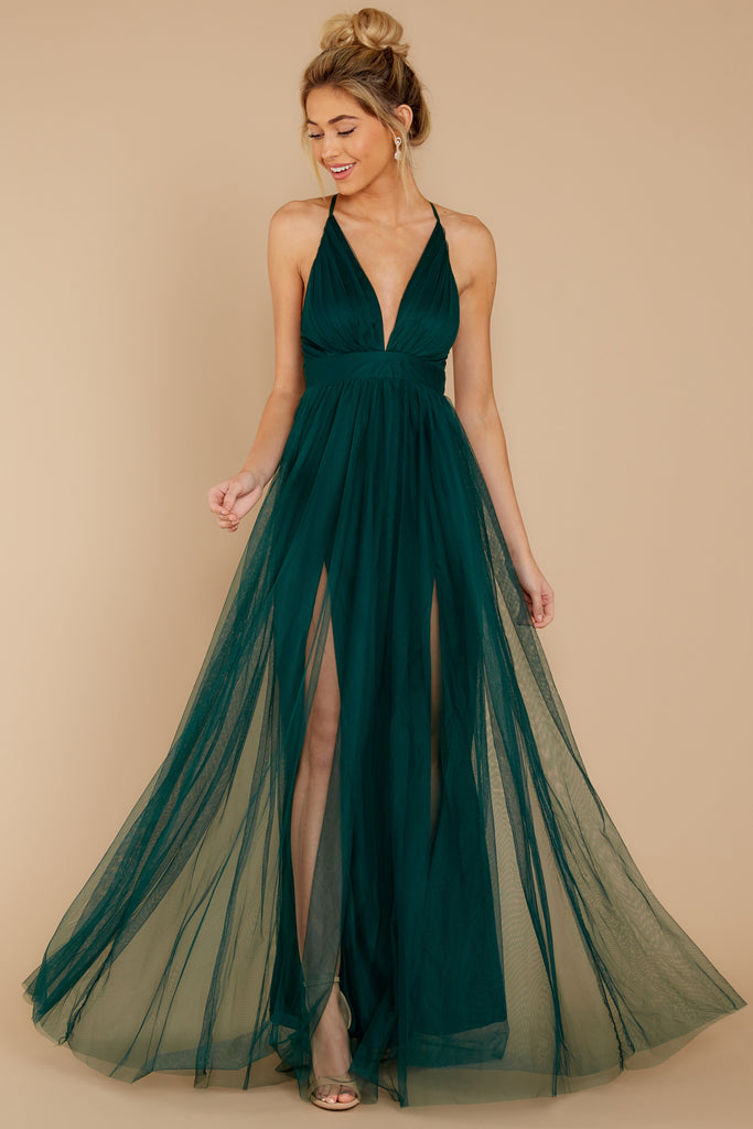 1 In Any Event Hunter Green Maxi Dress at reddress.com
