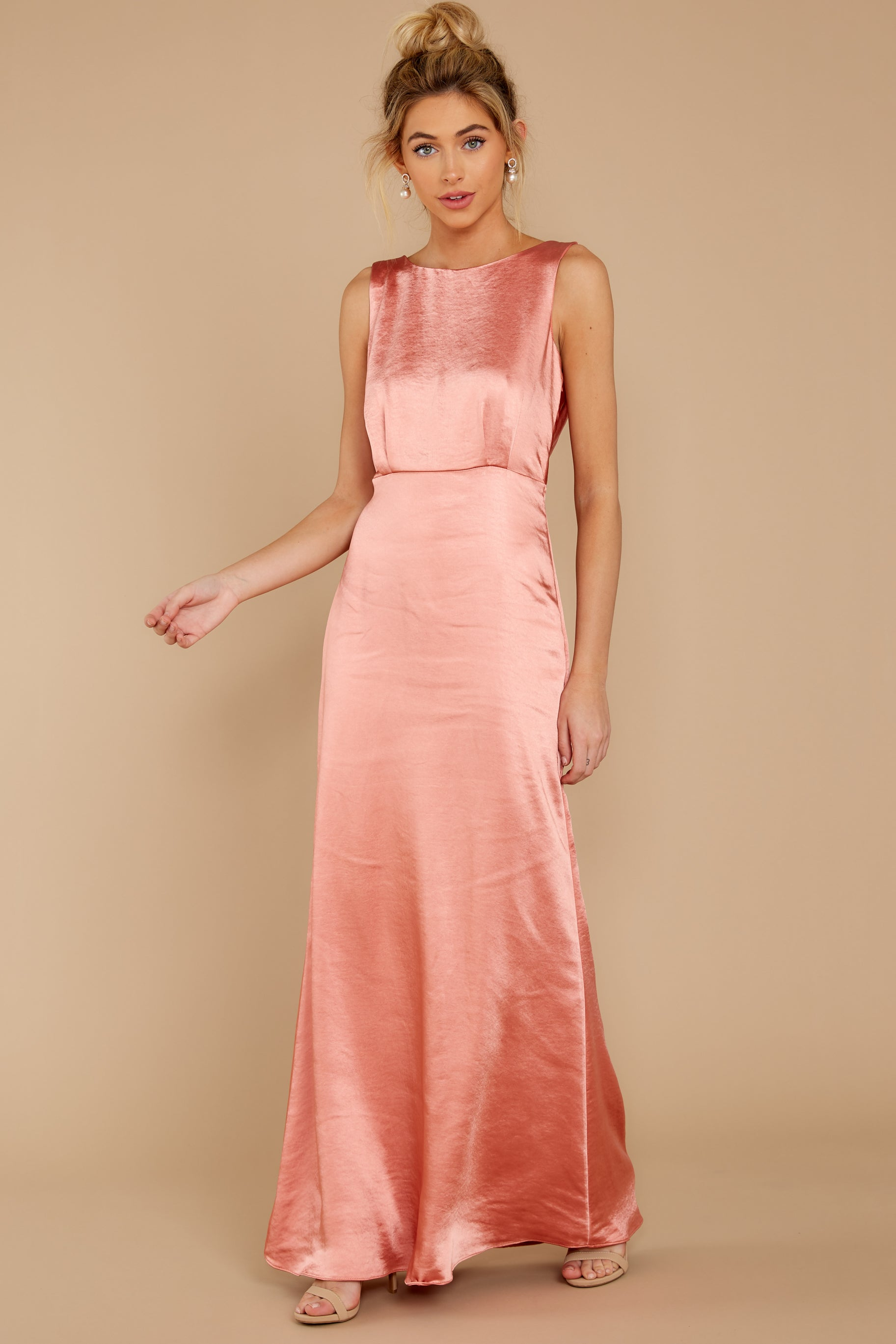 Vintage Evening Dresses and Formal Evening Gowns New Era Rose Pink Maxi Dress $62.00 AT vintagedancer.com
