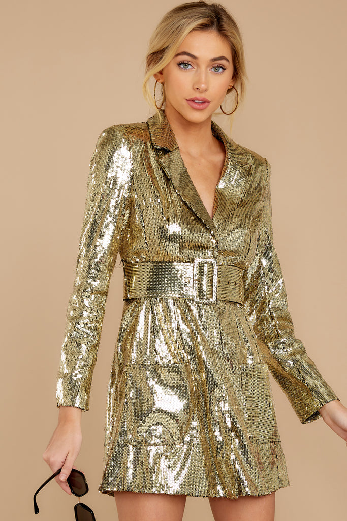 1 Time To Twinkle Evergreen Sequin Wrap Dress at reddressboutique.com