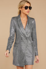 5 Reign Supreme Silver Blazer Dress at reddressboutique.com