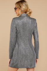 8 Reign Supreme Silver Blazer Dress at reddressboutique.com