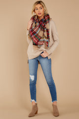 2 Keep Things Simple Beige Sweater at reddressboutique.com