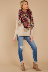 3 Keep Things Simple Beige Sweater at reddressboutique.com
