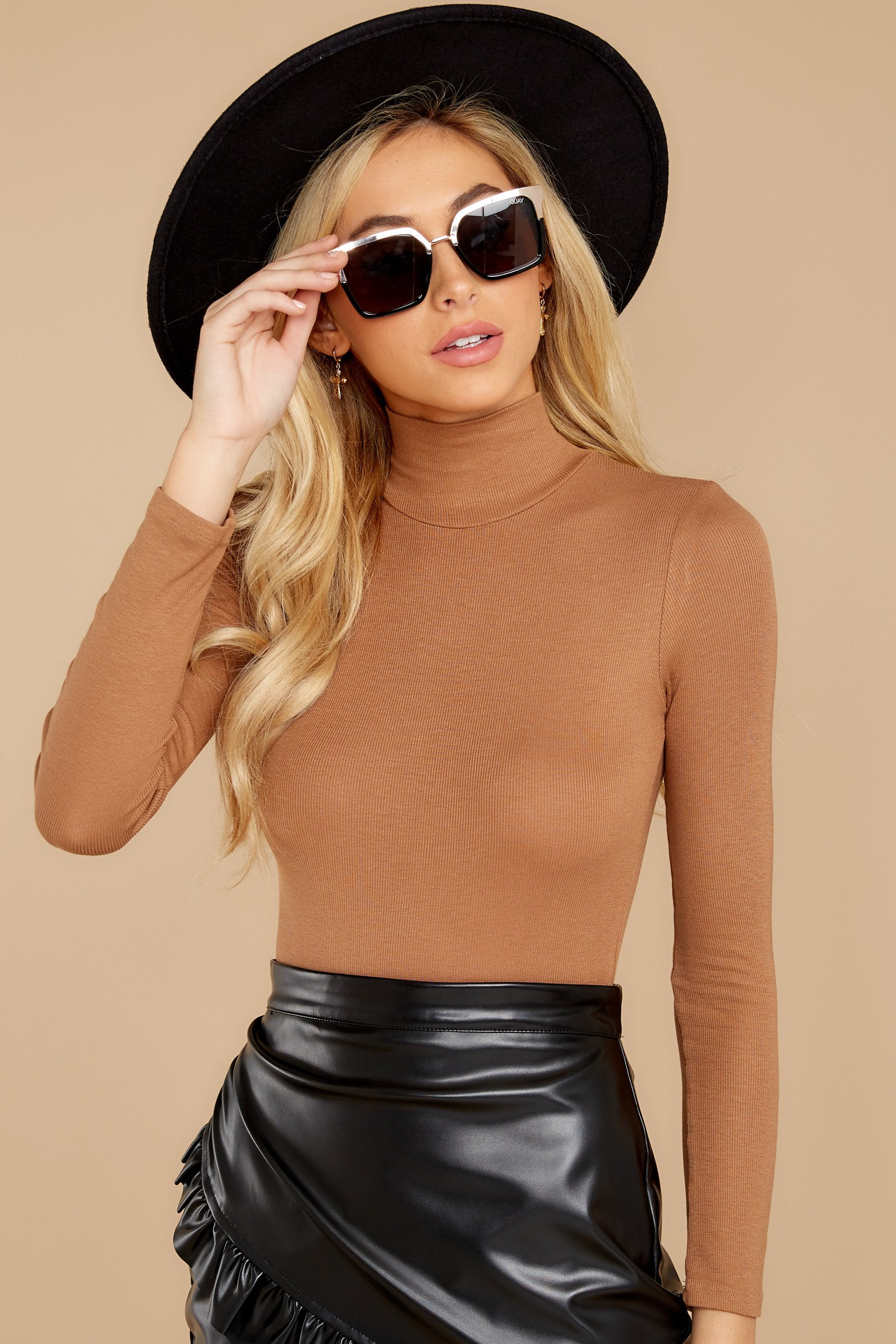 4 Covering The Basics Tan Bodysuit at reddress.com