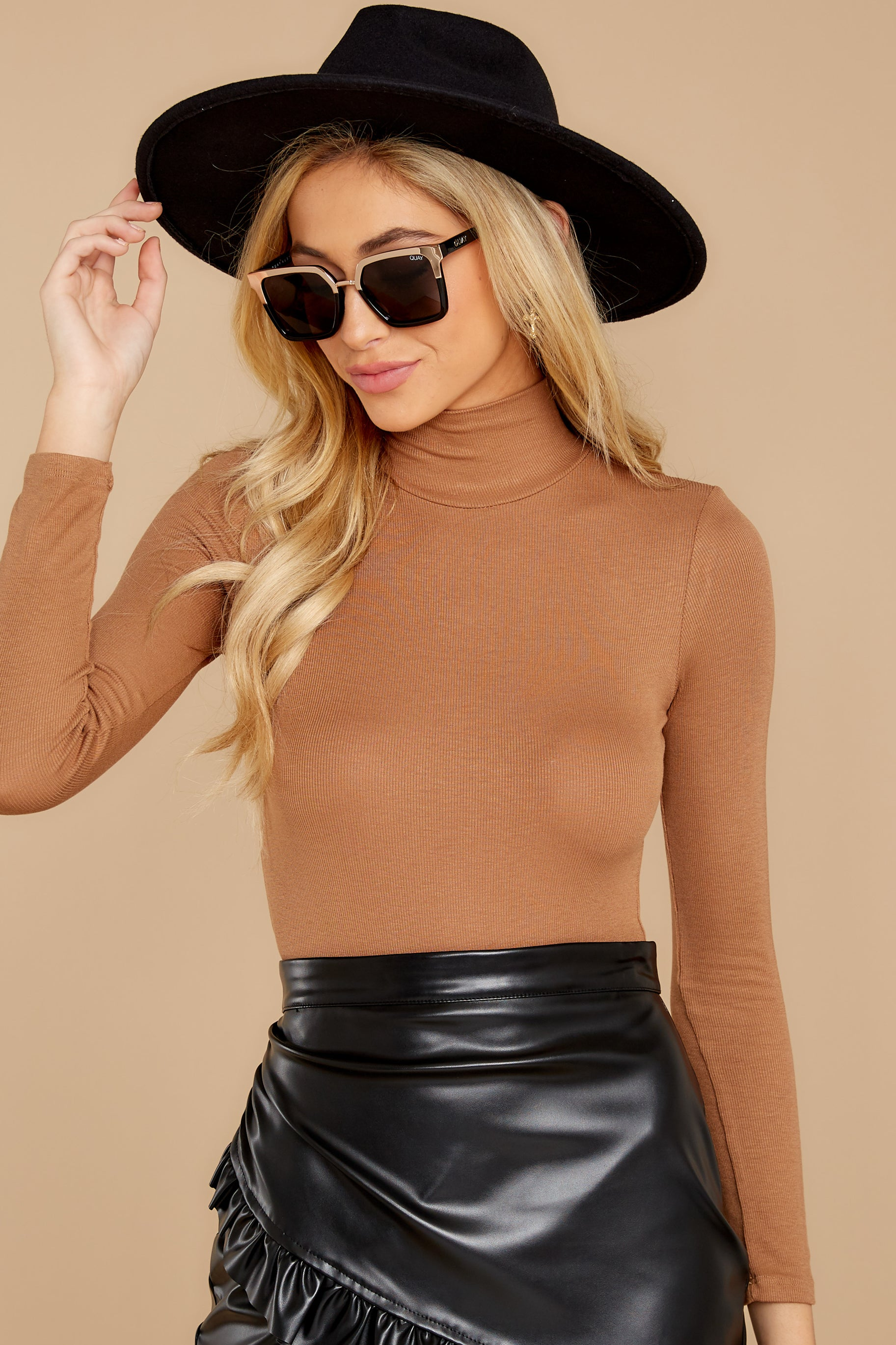 5 Covering The Basics Tan Bodysuit at reddress.com