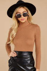 6 Covering The Basics Tan Bodysuit at reddress.com