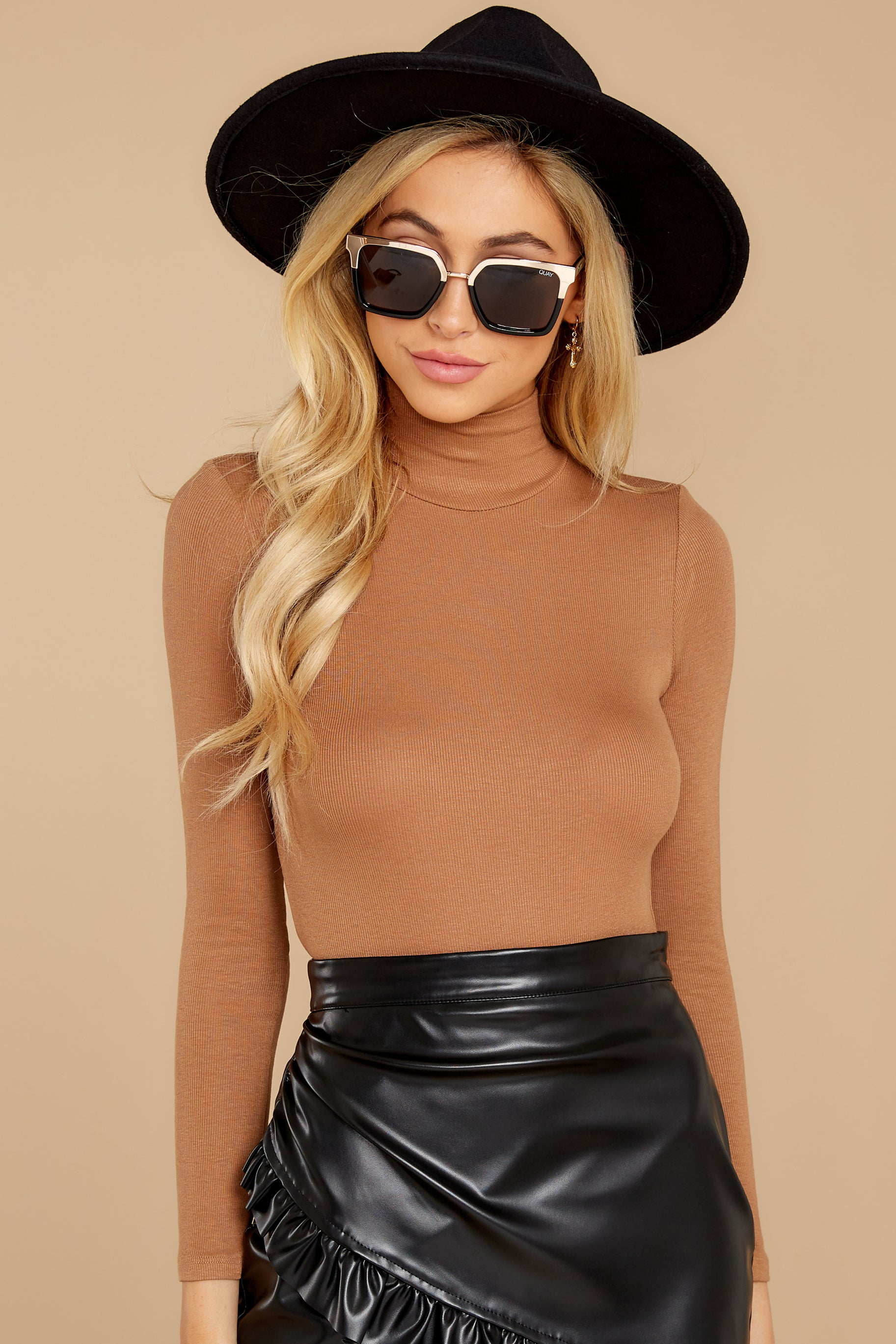 7 Covering The Basics Tan Bodysuit at reddress.com