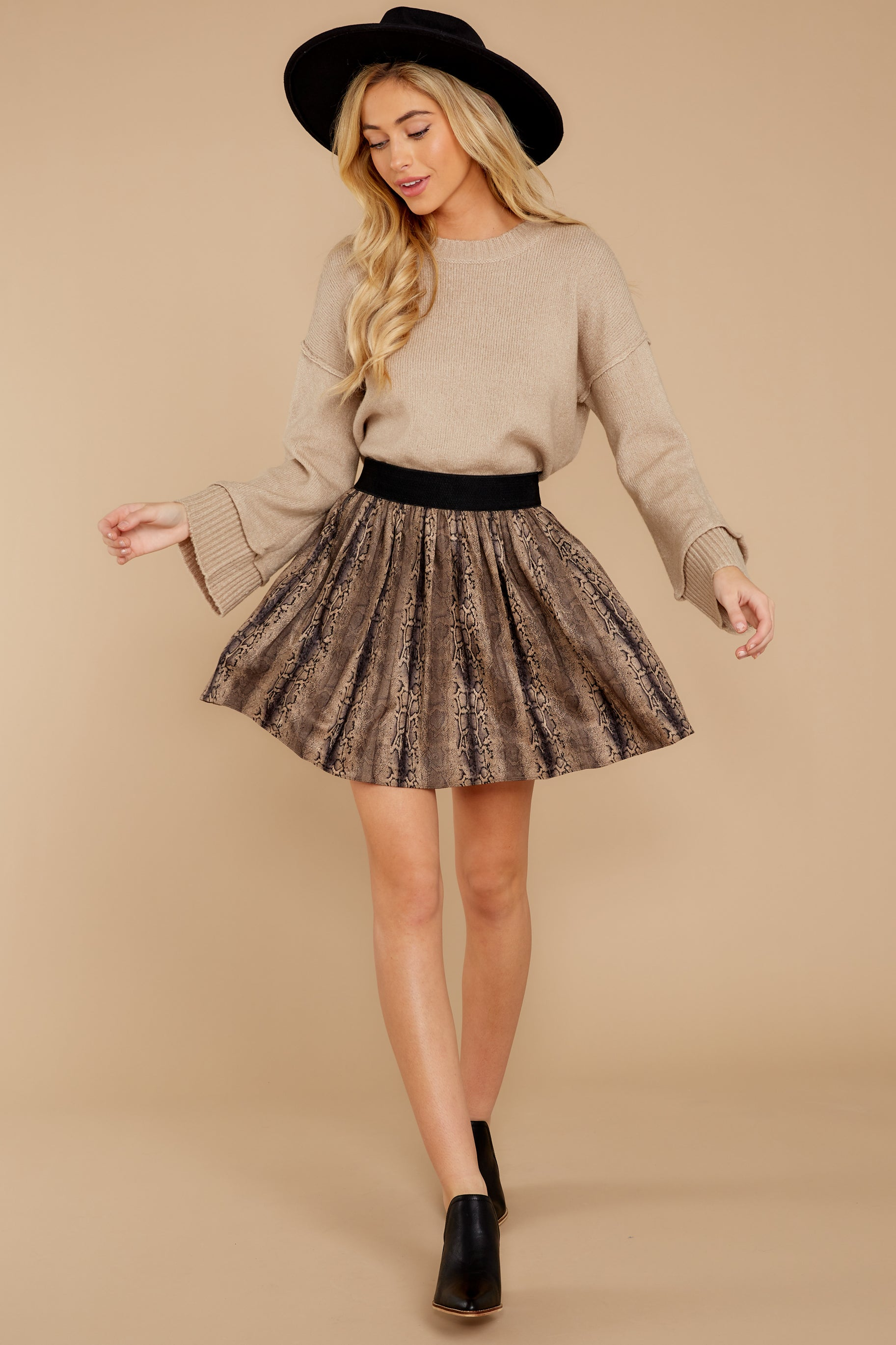 6 Woman About Town Warm Taupe Sweater at reddressboutique.com