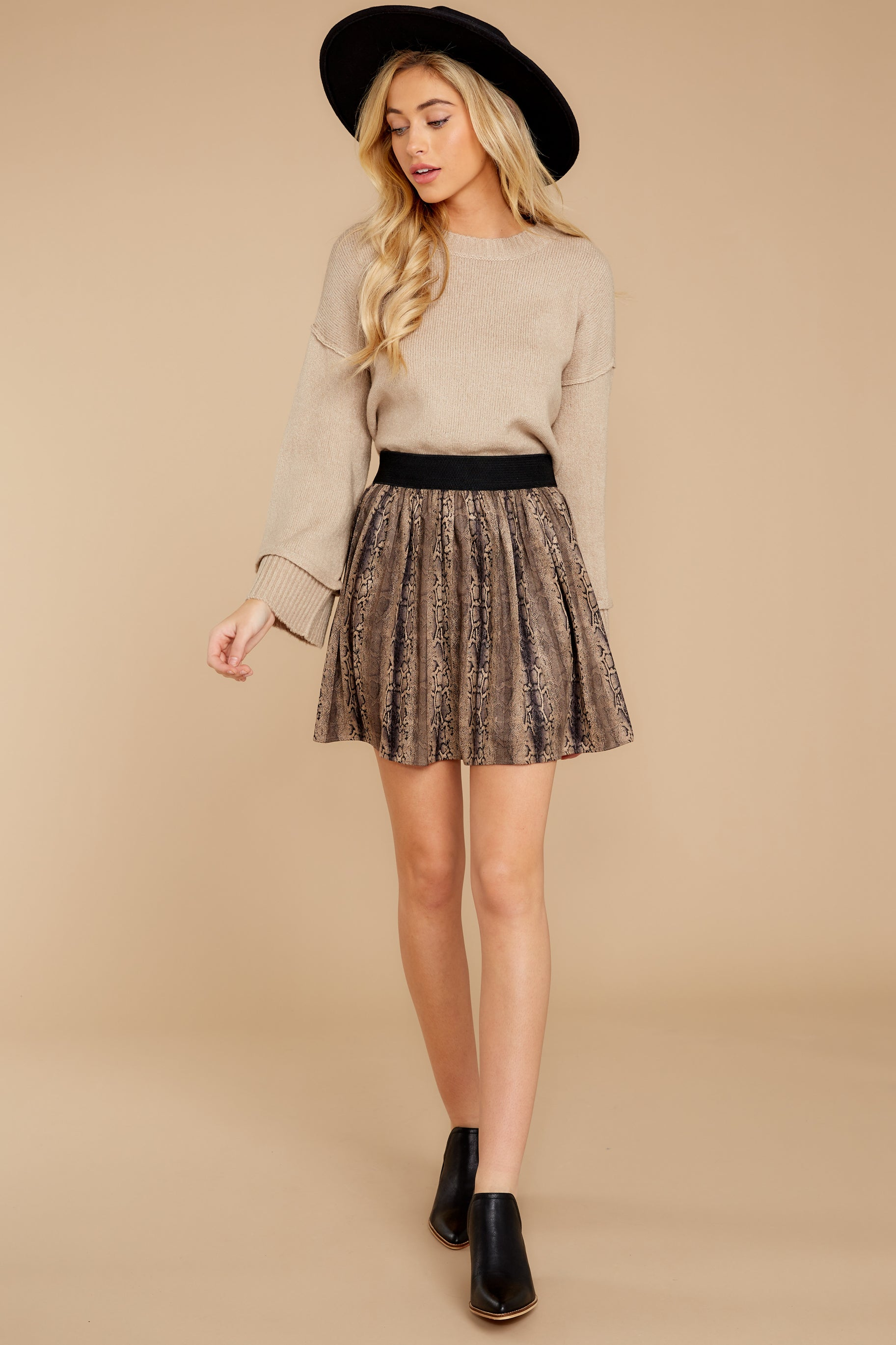 8 Woman About Town Warm Taupe Sweater at reddressboutique.com