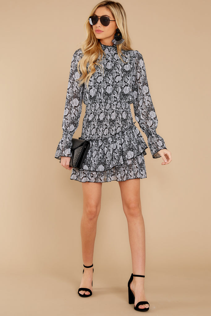 1 The Grey Snakeskin Breezy Dress at reddress.com