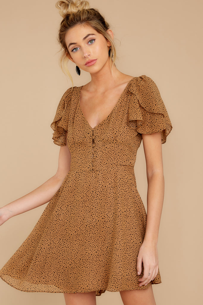 1 Unrivaled Style Tan Cheetah Print Dress at reddressboutique.com