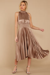 2 Classic Glamour Taupe Maxi Dress at reddressboutique.com