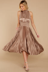 6 Classic Glamour Taupe Maxi Dress at reddressboutique.com