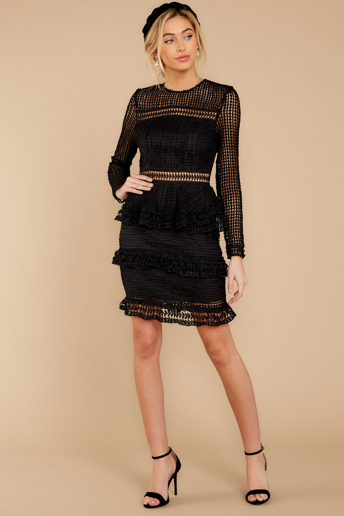 Out For Love Black Lace Dress by Endless Rose