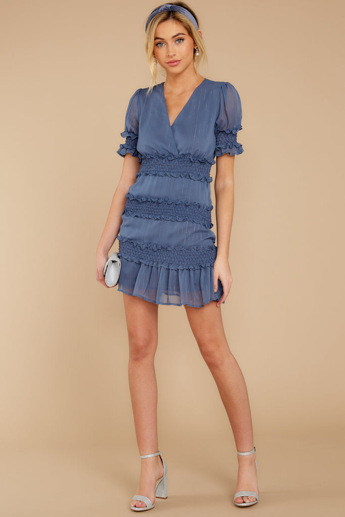 1 Always The Same Thing Slate Blue Dress at reddress.com