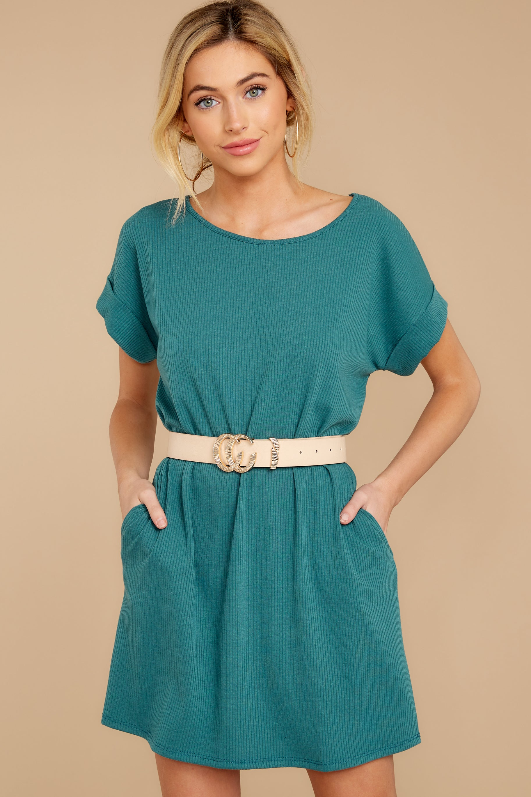 4 Anywhere She Goes Jade Green Dress at reddress.com