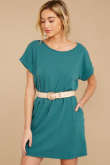 5 Anywhere She Goes Jade Green Dress at reddress.com