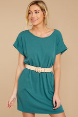 6 Anywhere She Goes Jade Green Dress at reddress.com