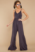 V-neck Spaghetti Strap Open-Back Shirred Empire Princess Seams Waistline Evening Dress/Jumpsuit
