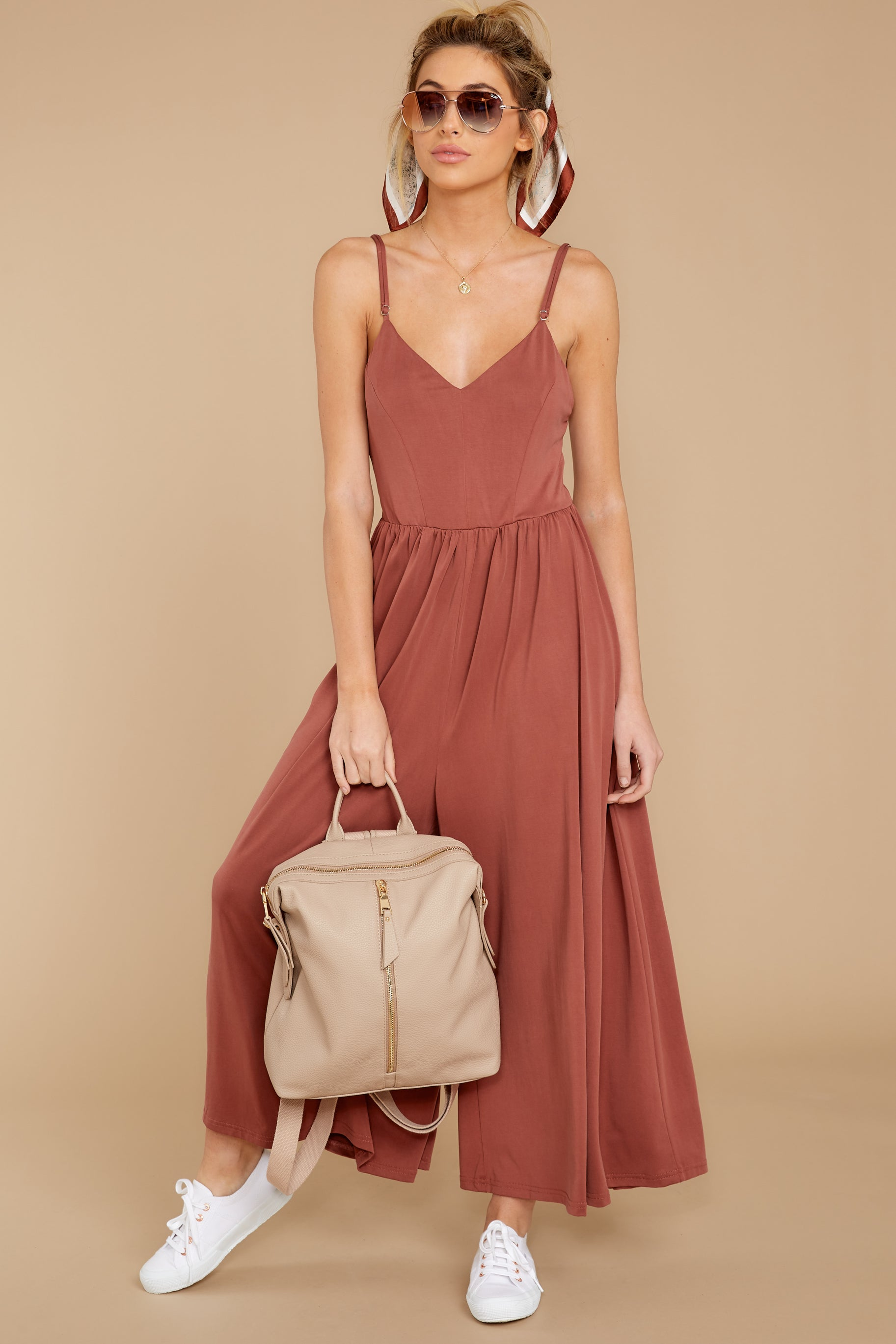 3 Casual Day Out Clay Jumpsuit at reddressboutique.com