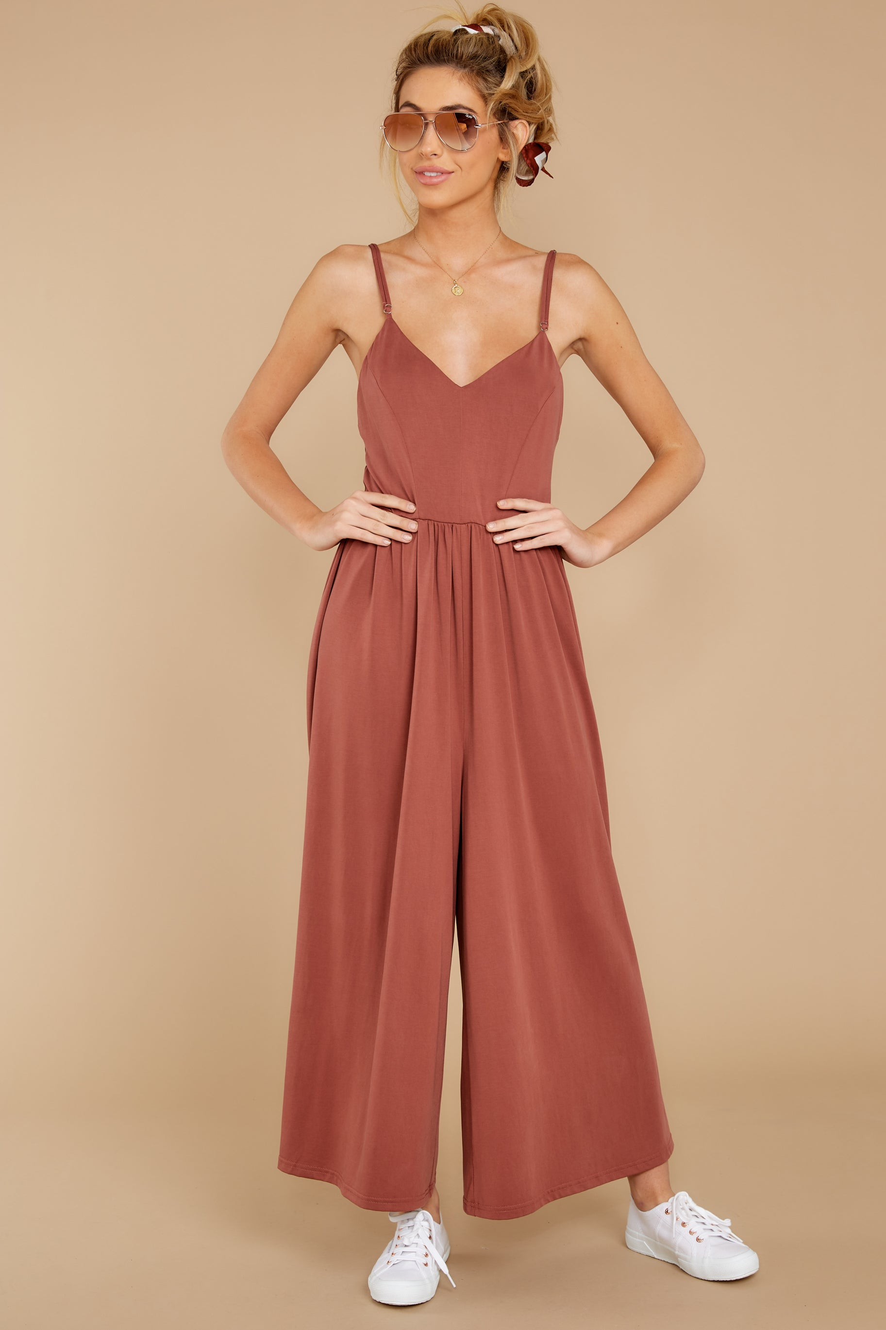 4 Casual Day Out Clay Jumpsuit at reddressboutique.com