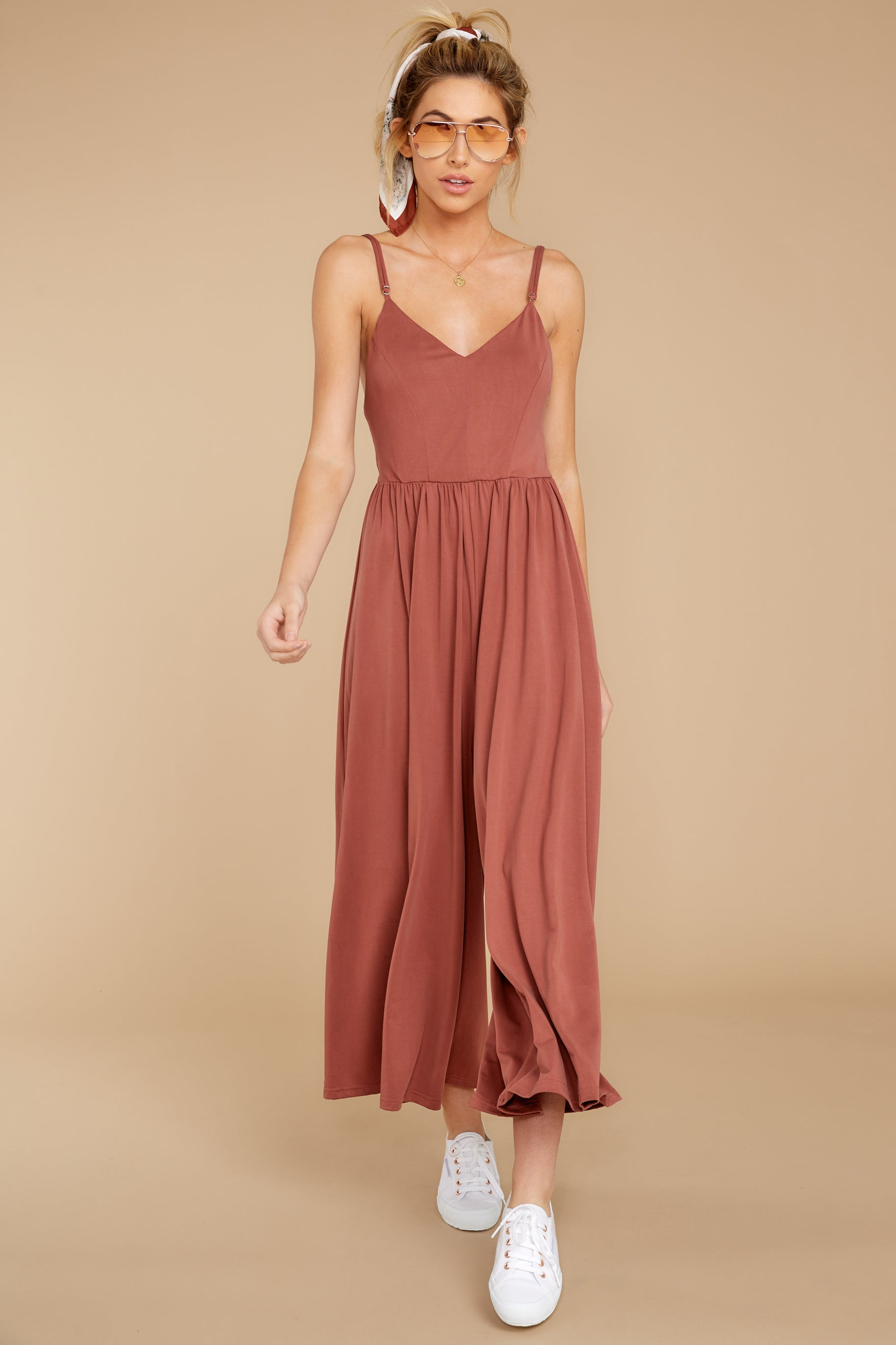5 Casual Day Out Clay Jumpsuit at reddressboutique.com