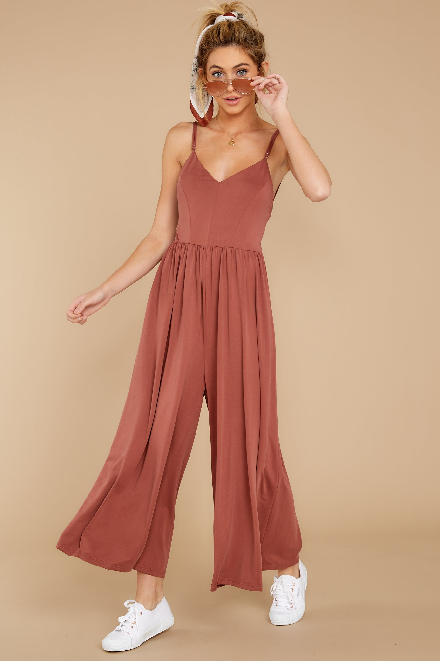 6 Casual Day Out Clay Jumpsuit at reddressboutique.com