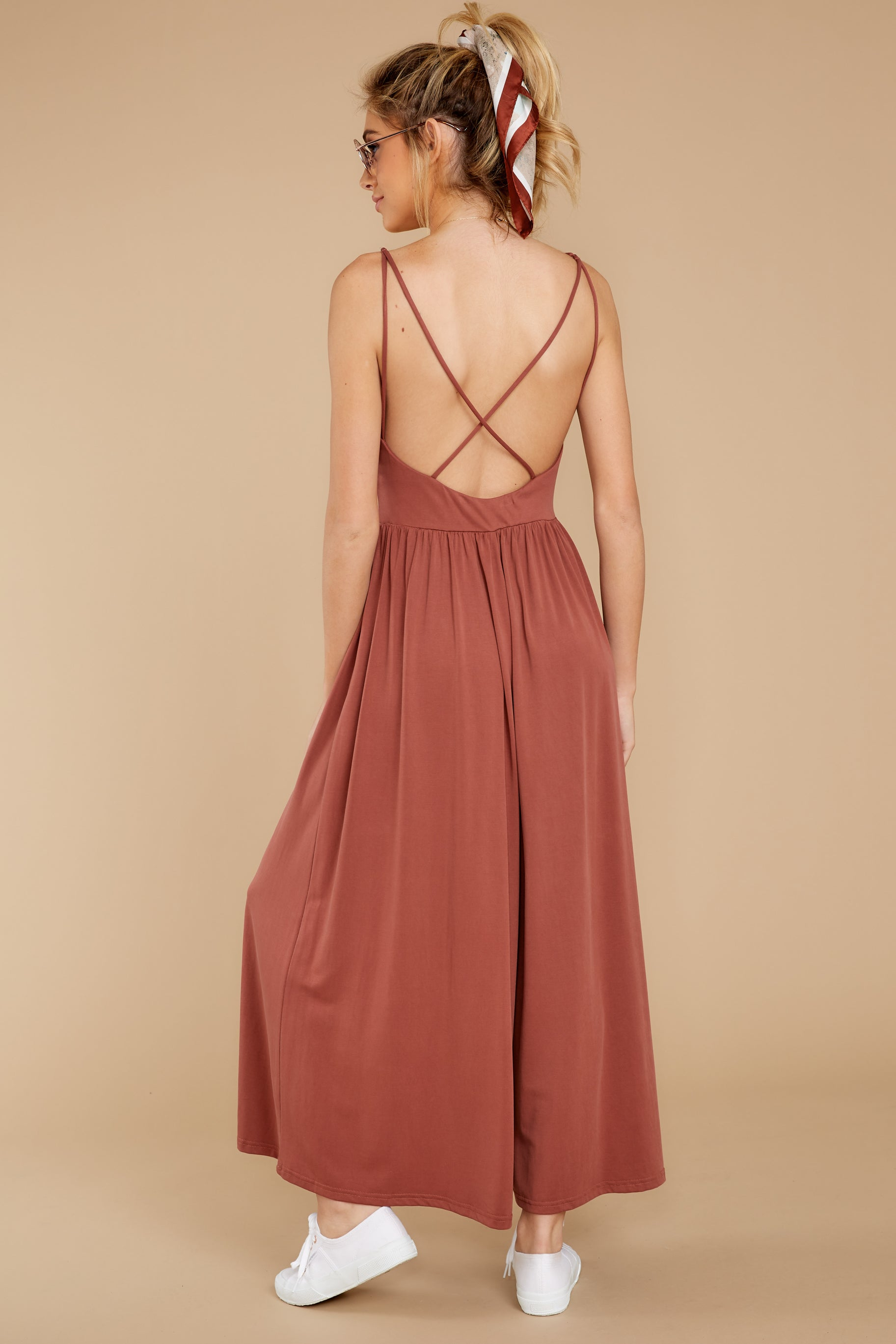 7 Casual Day Out Clay Jumpsuit at reddressboutique.com