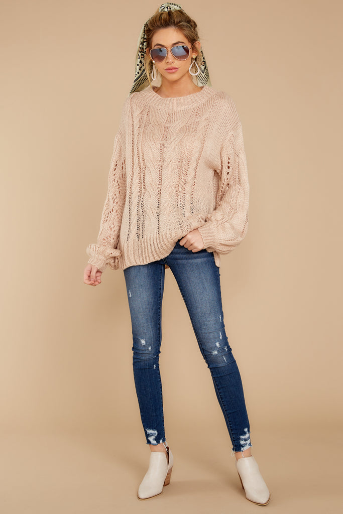 1 Wind Down Oatmeal Sweater at reddressboutique.com