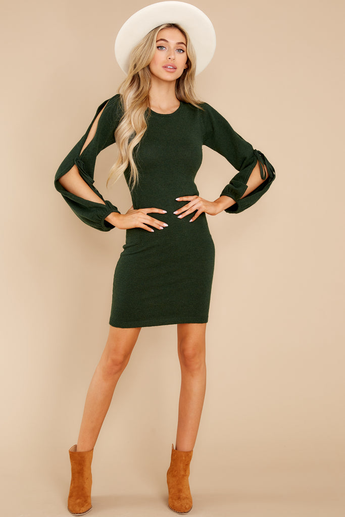1 Scenic Route Evergreen Sweater Dress at reddress.com