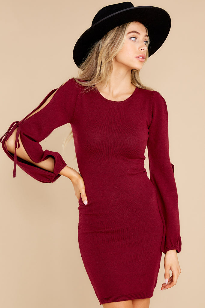 1 Scenic Route Burgundy Sweater Dress at reddress.com