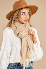 2 Layer Up Khaki Scarf at reddress.com