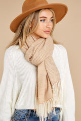 1 Layer Up Khaki Scarf at reddress.com