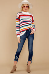 1 Debby Multi Stripe Sweater at reddressboutique.com