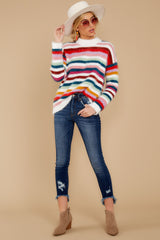 2 Debby Multi Stripe Sweater at reddressboutique.com