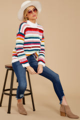 4 Debby Multi Stripe Sweater at reddressboutique.com