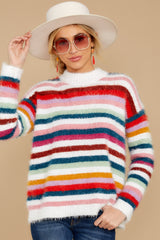 6 Debby Multi Stripe Sweater at reddressboutique.com
