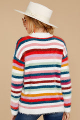 9 Debby Multi Stripe Sweater at reddressboutique.com