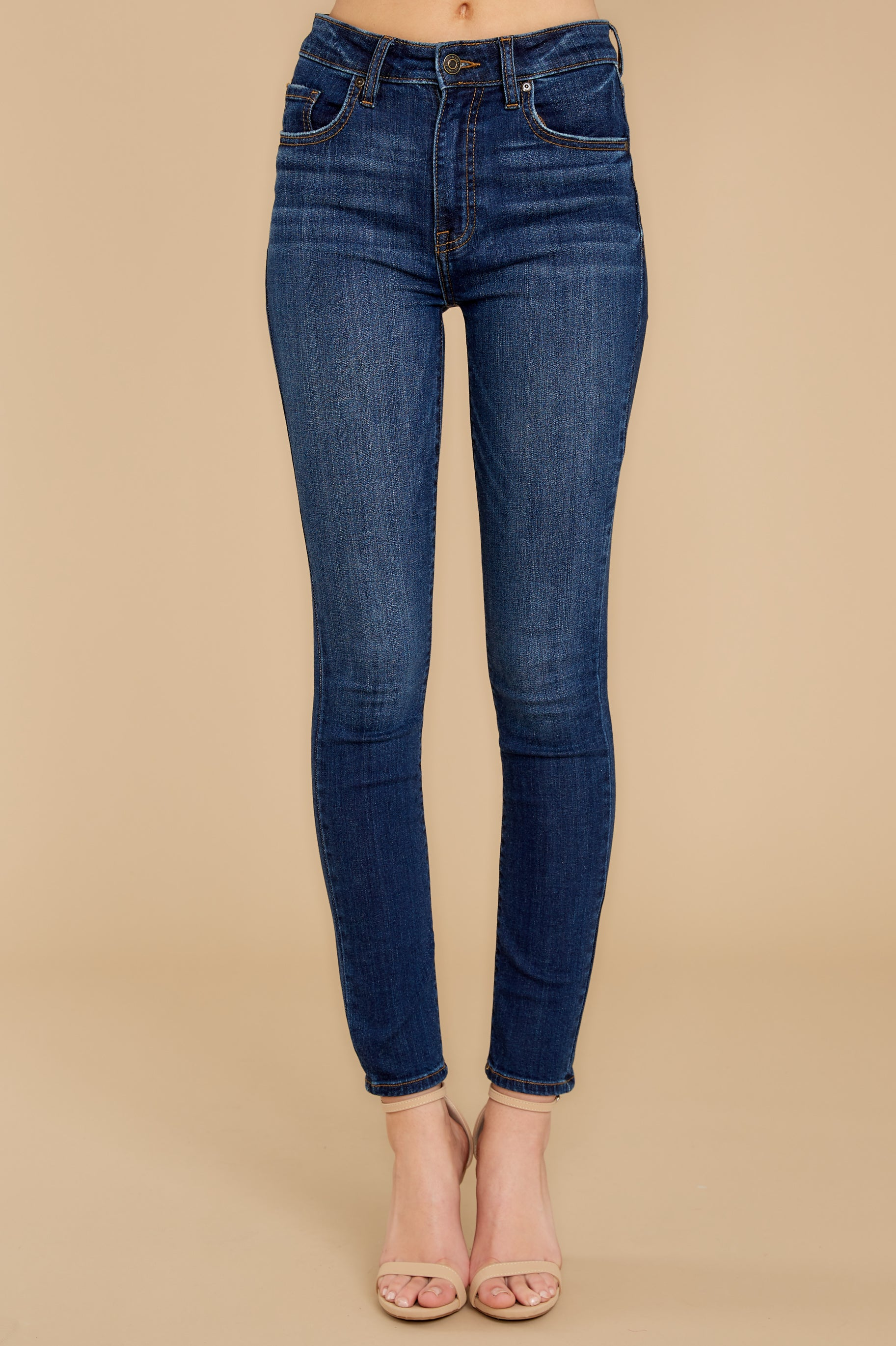 3 For The Win Dark Wash Skinny Jeans at reddressboutique.com