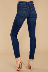 2 For The Win Dark Wash Skinny Jeans at reddressboutique.com