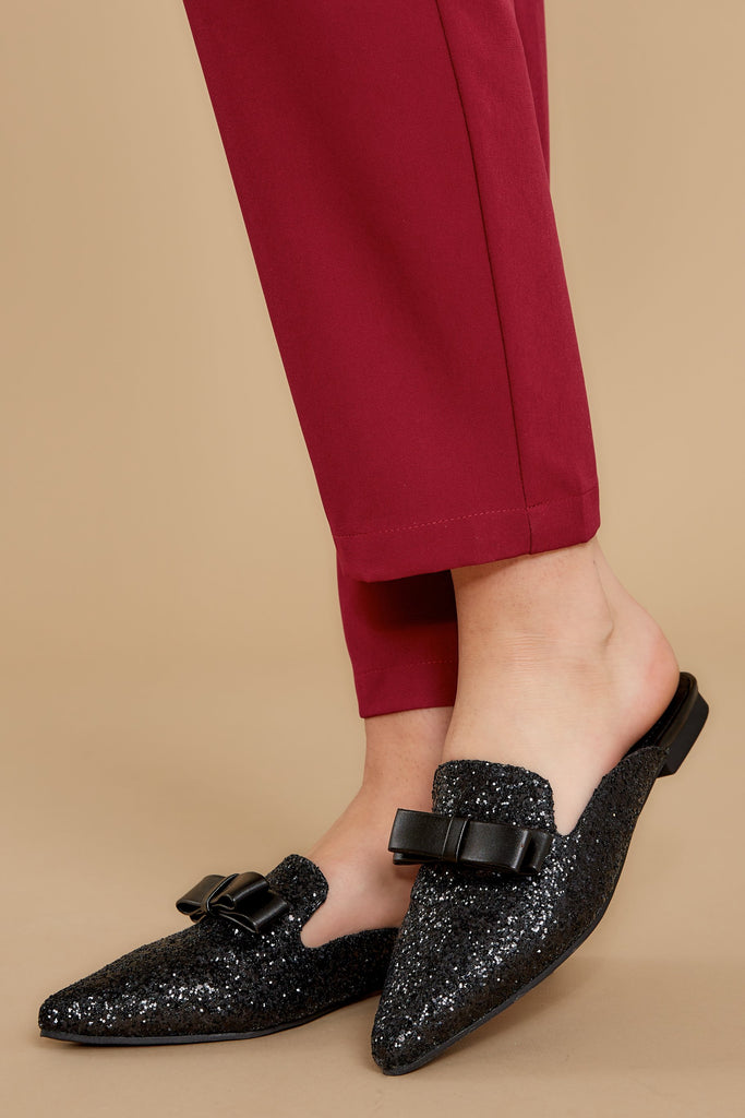 1 Make It Possible Black Leopard Loafers at reddressboutique.com