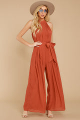 3 Impressive Poise Terracotta Jumpsuit at reddressboutique.com