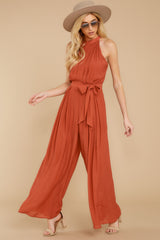 6 Impressive Poise Terracotta Jumpsuit at reddressboutique.com
